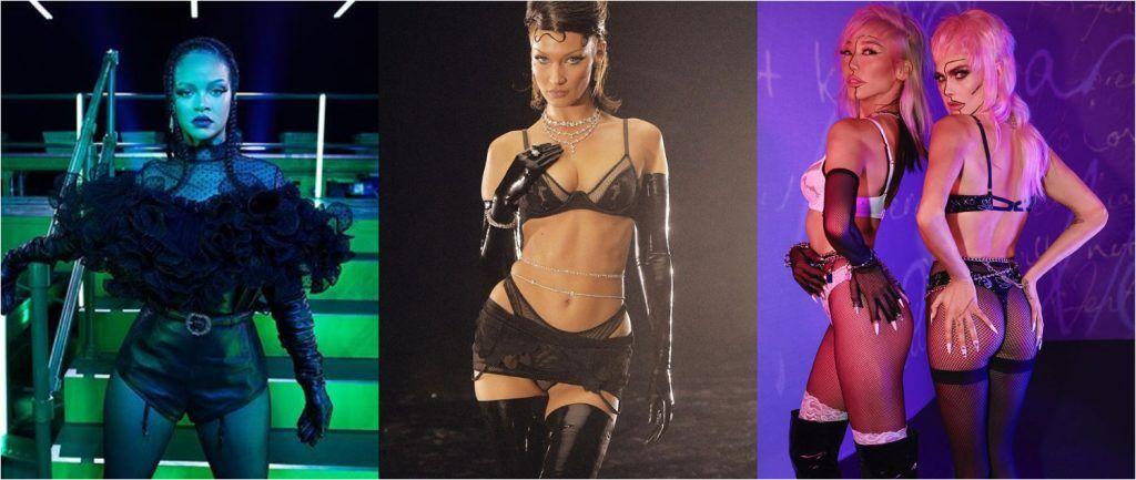 蕾哈娜的副業除了 Fenty Beauty 外,還有內衣品牌 Savage x Fenty,不管是秀場還是造型都和蕾哈娜一樣火辣