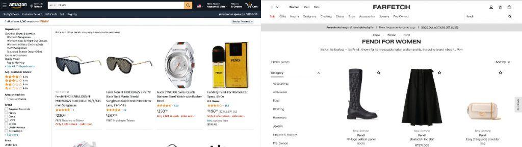 FARFETCH 通過優化入口網站的 UI/UX 設計,讓逛網站的精品買家有更好的購物體驗