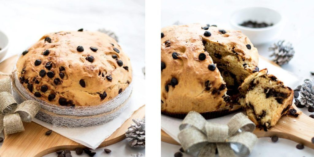 充滿著果乾的義大利傳統聖誕麵包潘妮托妮 Panettone