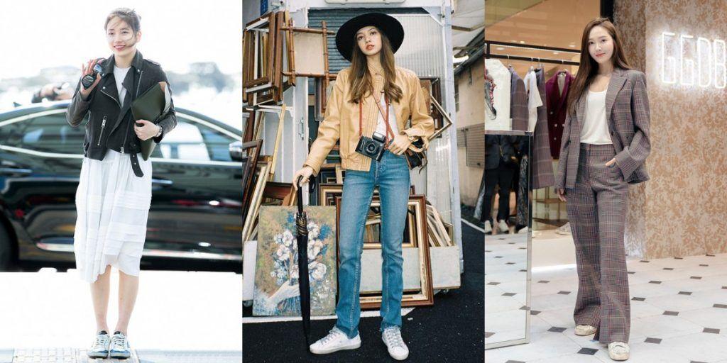 秀智、lisa、jessica這些韓國女明星也熱愛golden goose的小髒鞋,不管是正式場合還是私服都能看見