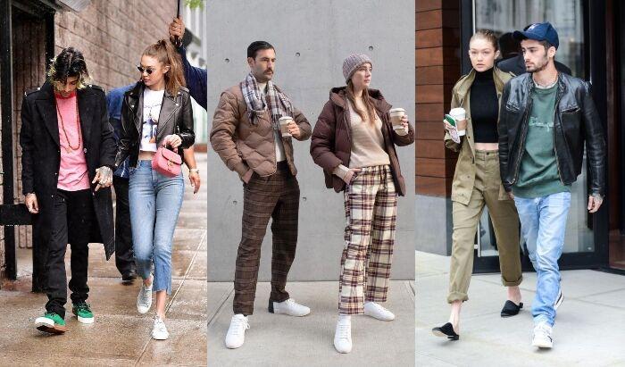 情人節穿搭示範:學 Gigi Hadid 和 Zayn Malik 穿風格相似的情侶裝