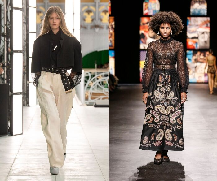 LV和Dior在春夏系列中都加入漁網的元素