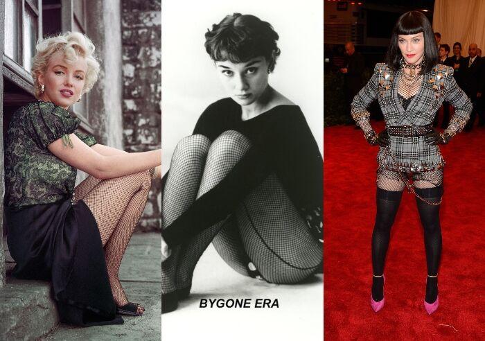 網襪在名人 Elizabeth Taylor、Marilyn Monroe、Audrey Hepburn 的加持下,讓網襪一躍成為時尚必備單品
