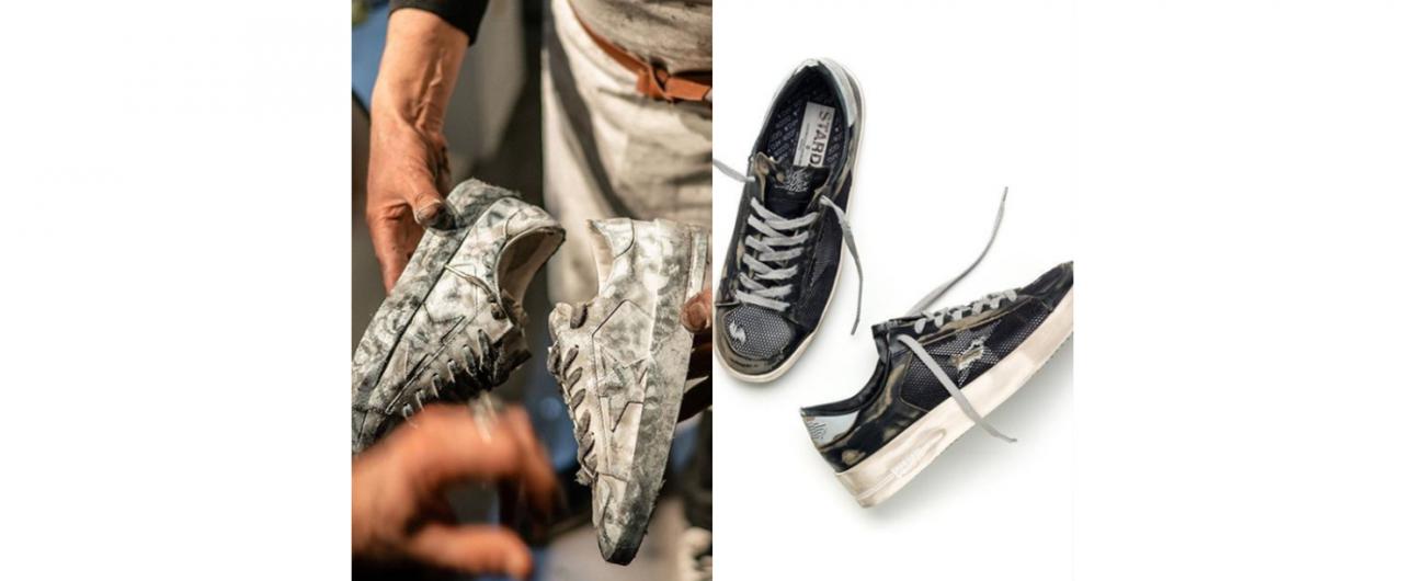 """花上萬元買一雙看起來又髒又舊的球鞋,居然成為很rock的一件事。Golden Goose 費時費工打造的""""髒""""是獨一無二的"""