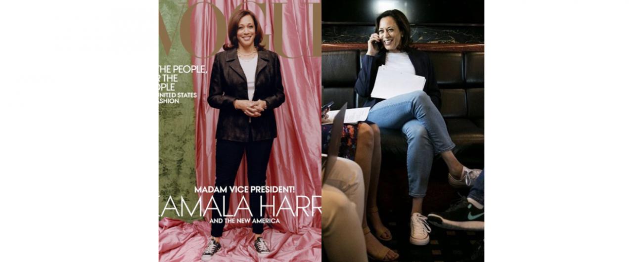 就是愛Converse ! 美國首位女性副總統賀錦麗,穿球鞋拍VOGUE封面引發爭議