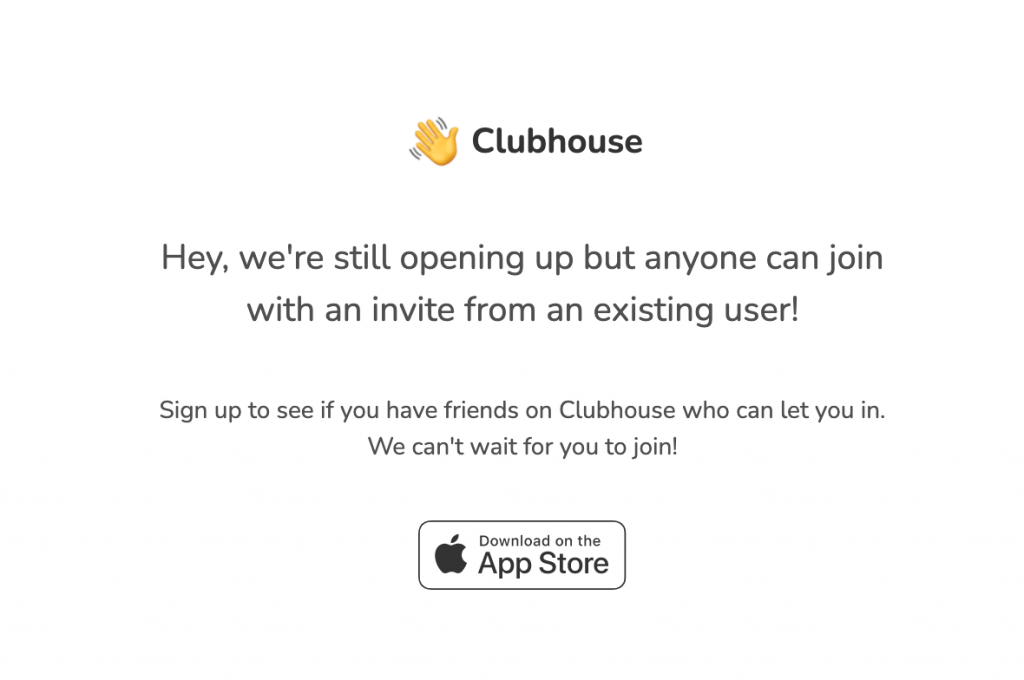 we've reserved clubshouse