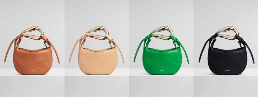 CHLOÉ Kiss Bag with four different colors, 51,600 NTD per bag
