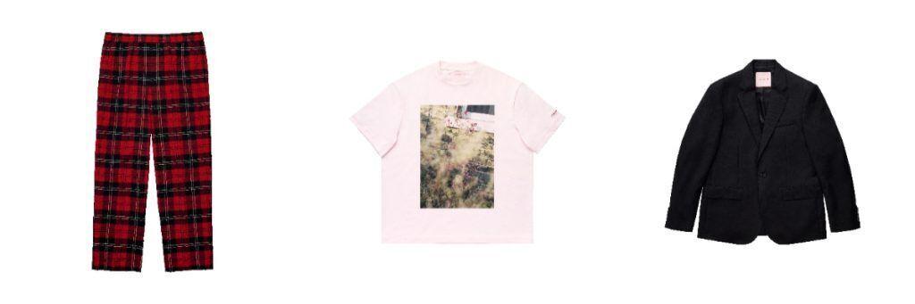 simone rocha X H&M men wear, pants, tshirt, blazer