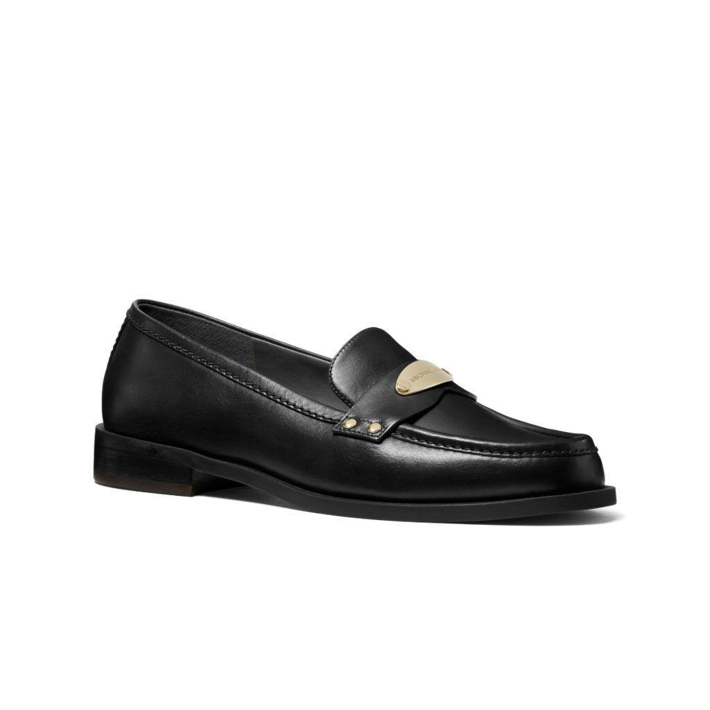 MICHAEL KORS Finley黑色皮革樂福鞋/7,000元