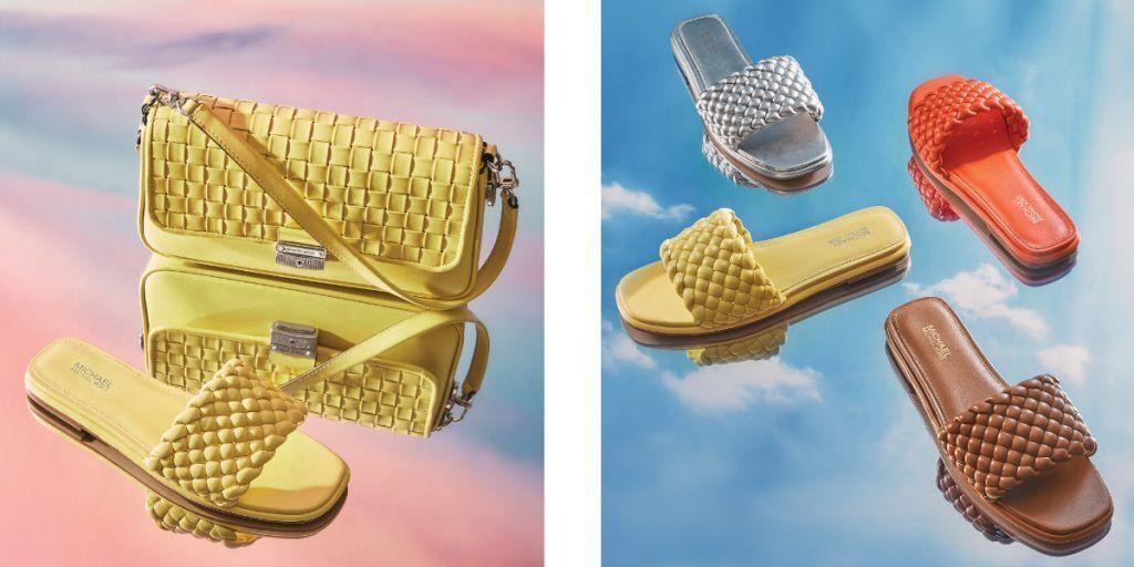 Michael Kors 皮革編織拖鞋
