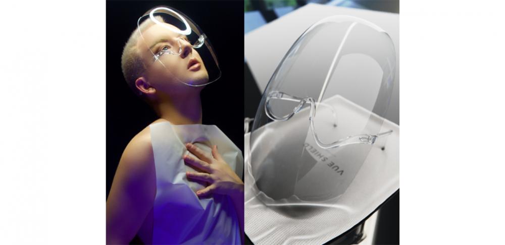 還在瘋搶特殊花色口罩!? 戴上透明面罩才是最時髦的防疫配件