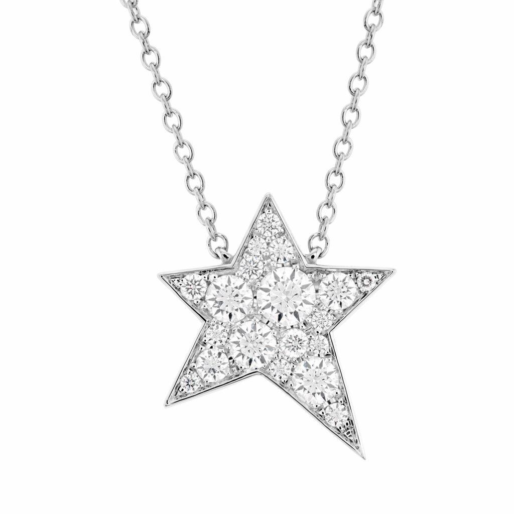 母親節禮物推薦:HEARTS ON FIRE ILLA 白K金鑽石項鍊